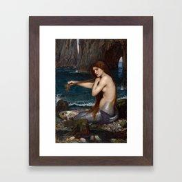 Mermaid by John William Waterhouse, 1900 Framed Art Print
