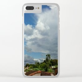 Antennas and Clouds Clear iPhone Case