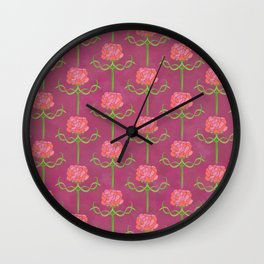 Spring Roses Pattern ~ LOVED UP VAR Wall Clock