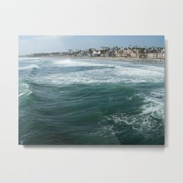 The Pier Above Metal Print
