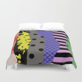 Pick A Pattern - Abstract, Textured, Stripes, Polka Dot, Grid, Paint Splatter Duvet Cover