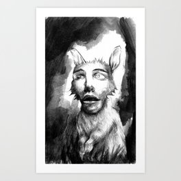Rabbit Face Art Print