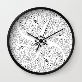 Black & White Coordination Wall Clock