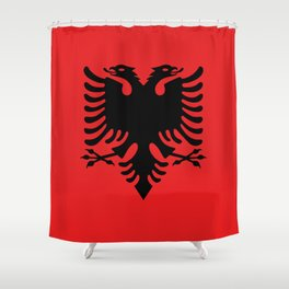 National flag of Albania - Authentic version Shower Curtain