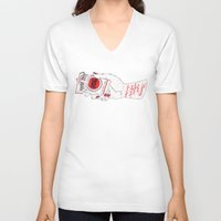 mad men V-neck T-shirts featuring Mad Men by scoobtoobins