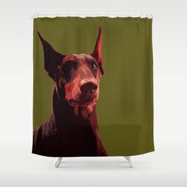Doberman, majestic dog Shower Curtain