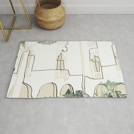tropical architecture Rug