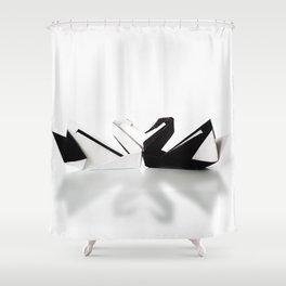 Origami Swan Shower Curtain