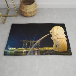 The Merlion of Singapore Rug