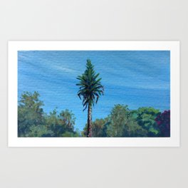 Echium in Botanic Gardens Art Print