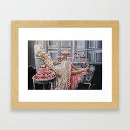 Marie Antoinette -let them eat cake Framed Art Print