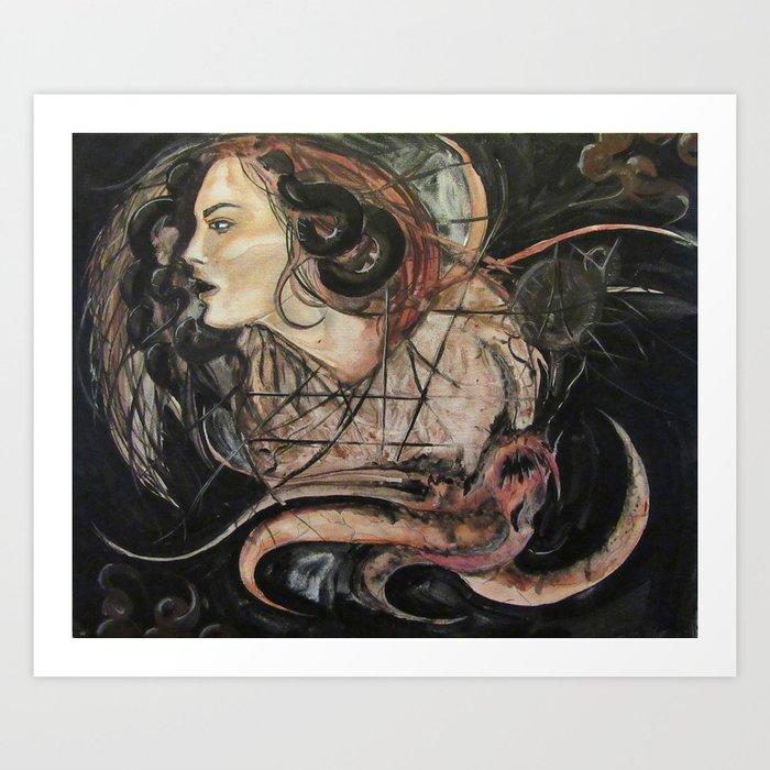 Fury and the Angel Art Print