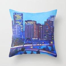 Denver Skyline Throw Pillow