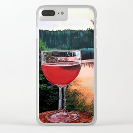Water and Rose Clear iPhone Case