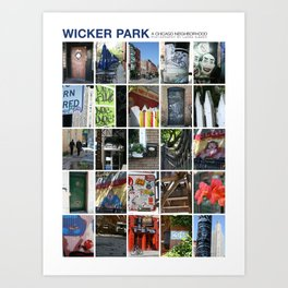 Wicker Park Neighborhood Poster Art Print