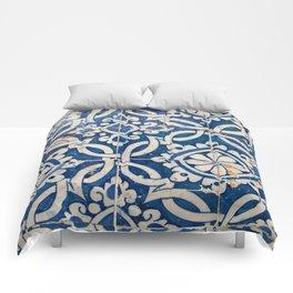 Vintage portuguese azulejo Comforters