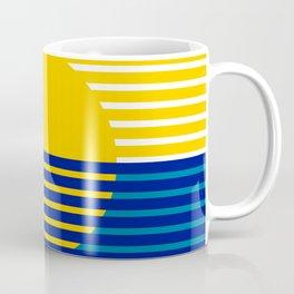 Yellow Split Sun Coffee Mug