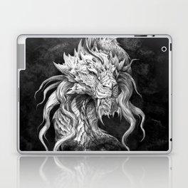 Dark Side Japanese Dragon portrait on black background | Graphit Laptop & iPad Skin