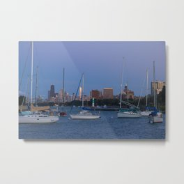 Chicago | Skyline Past the Harbor Metal Print
