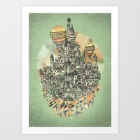 emerald Art Prints featuring Emerald City by David Fleck