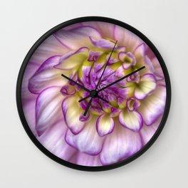Pink Zinnia Close Up Wall Clock