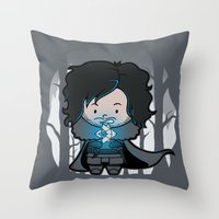 ghost Throw Pillows featuring Ghost? by Perdita