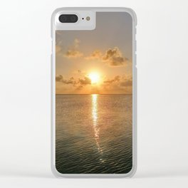 San Pedro Sunset Clear iPhone Case