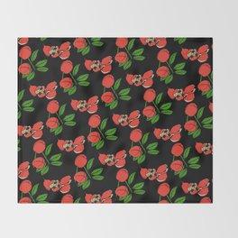 Jamaican Botanicals - Ackee (neon) Throw Blanket