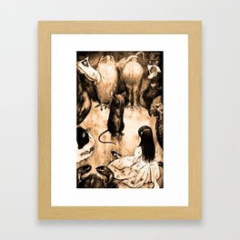 Alice and the animals Framed Art Print