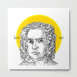 St. Newton Metal Print