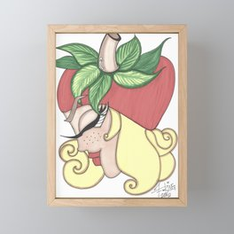 Strawberry Blonde Framed Mini Art Print