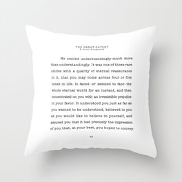Scott Fitzgerald Quote Throw Pillow