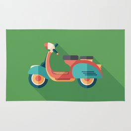 Vintage Urban Scooter Rug