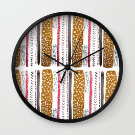 Make do and Mend pattern Wall Clock