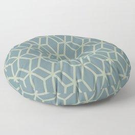 Soft Aqua Blue Green Tessellation Line Pattern 16 2021 Color of the Year Aegean Teal Salisbury Green Floor Pillow