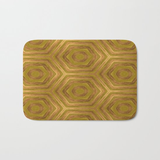 Golden - Cooper Geometric Abstract Bath Mat
