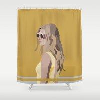 golden Shower Curtains featuring Golden by Anna McKay