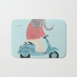 elephant scooter Bath Mat