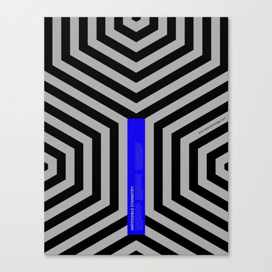Impossible Symmetry - Cebra Canvas Print