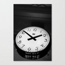 Clock at the Station Canvas Print