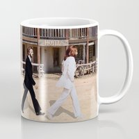 downton abbey Mugs featuring Abbey road by eARTh