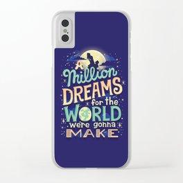 A Million Dreams Clear iPhone Case