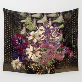 "Charles Rennie Mackintosh ""Petunias"" Wall Tapestry"
