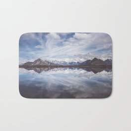 Mountain Lake Reflection Bath Mat