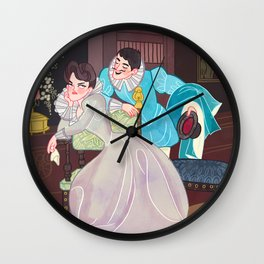A lover's spat Wall Clock