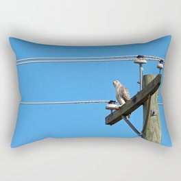 Red Tailed Hawk on Telephone Pole 2 Rectangular Pillow
