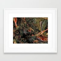 nightmare Framed Art Prints featuring Nightmare by Miguel A. Martin