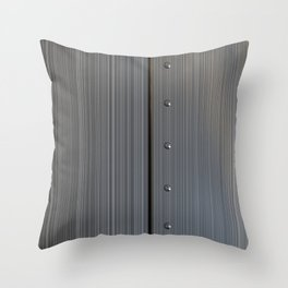 Brushed metal plate with rivets Throw Pillow