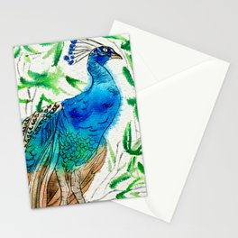 Perched Peacock I Stationery Cards