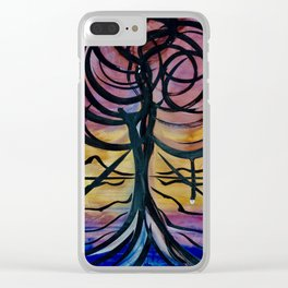 Apocolyptic Bloom Clear iPhone Case